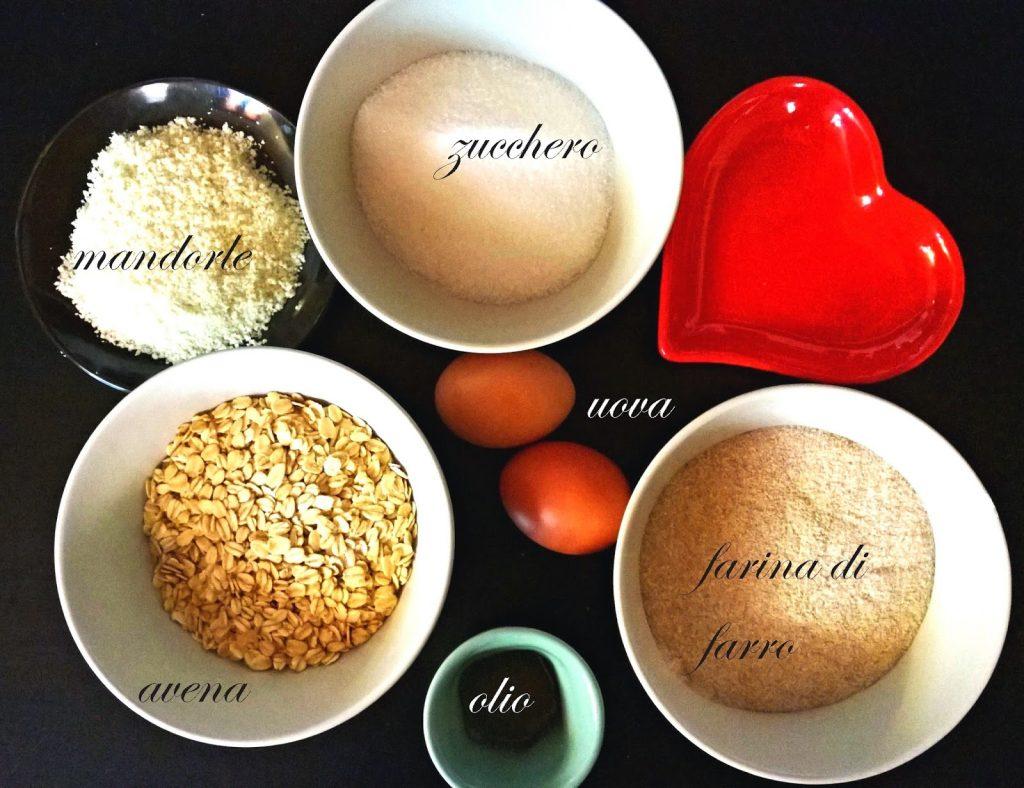 ingredienti biscotti farro e avena
