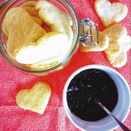 Cuoricini al cocco e farina di ceci