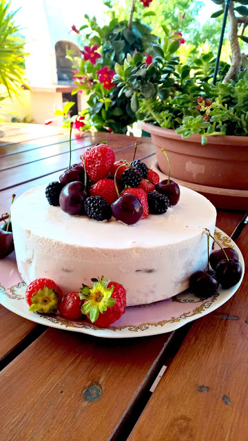 Cheese cake senza cottura ai frutti rossi