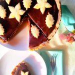 Crostata al caramello e cioccolato fondente