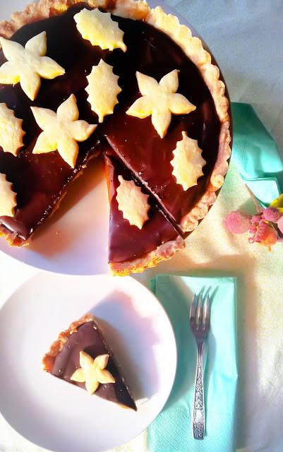 crostata caramello e cioccolato