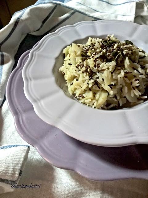 riso topinambur e semi croccanti