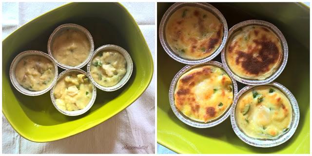 tortini di zucchine con formaggio di capra e miele