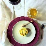 Sformatini alle zucchine con cuore di caprino glassati al miele