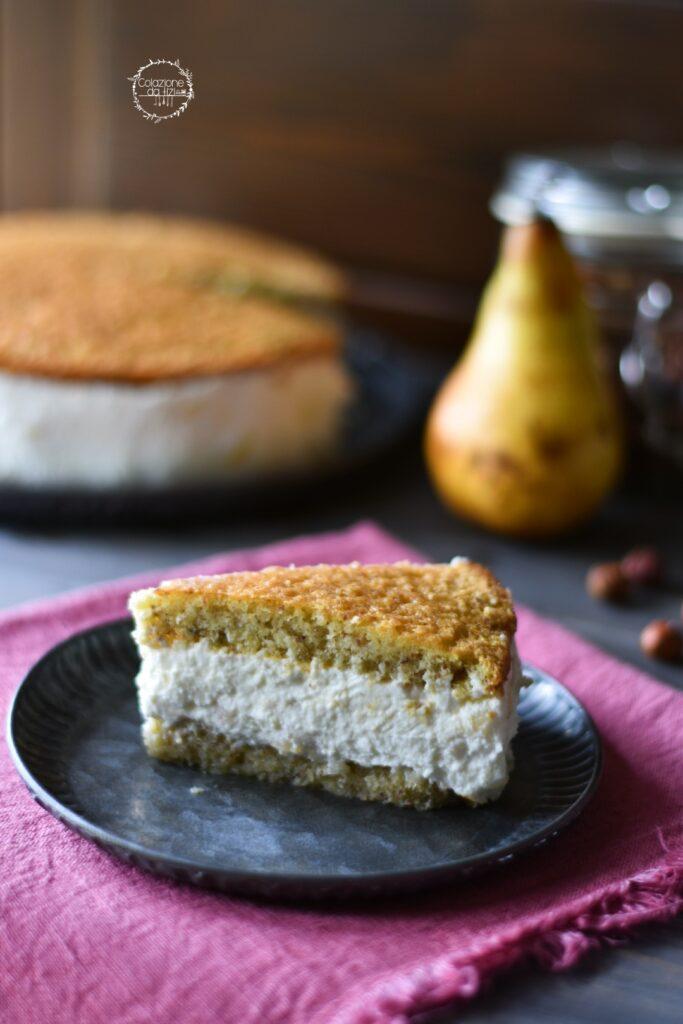 torta ricotta pere sal de riso fetta