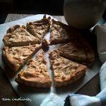 Torta salata all'indivia, ricotta e noci
