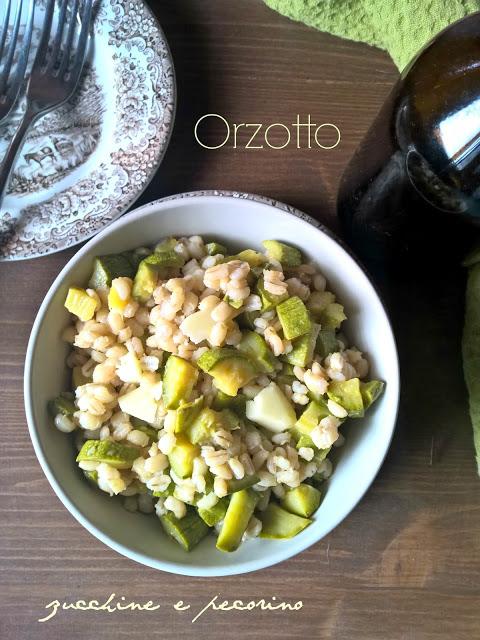 orzotto zucchine e pecorino