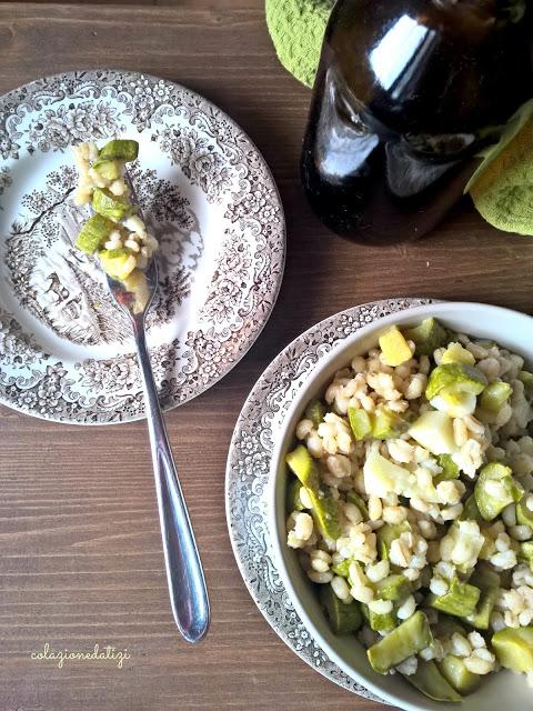 Orzotto zucchine e percorino