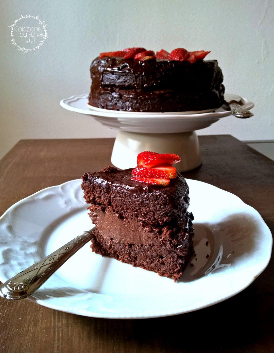 torta a cioccolato e barbabietola