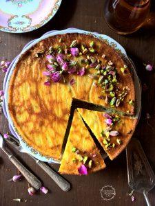 torta persiana all'acqua di rose