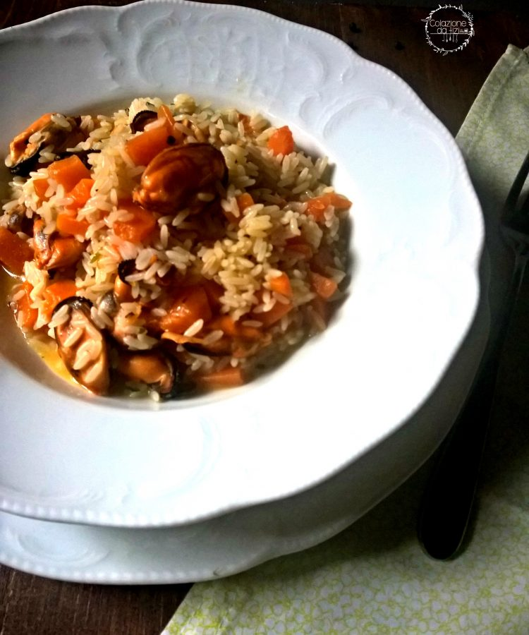 risotto zucca e cozze