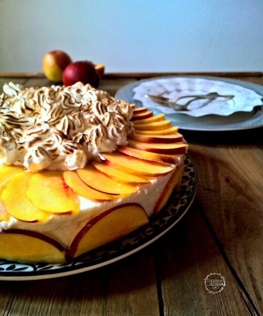 cheese cake meringata pesca e arancia