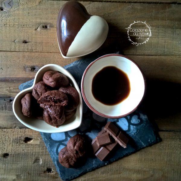 biscotti cuore cioccolato fondente
