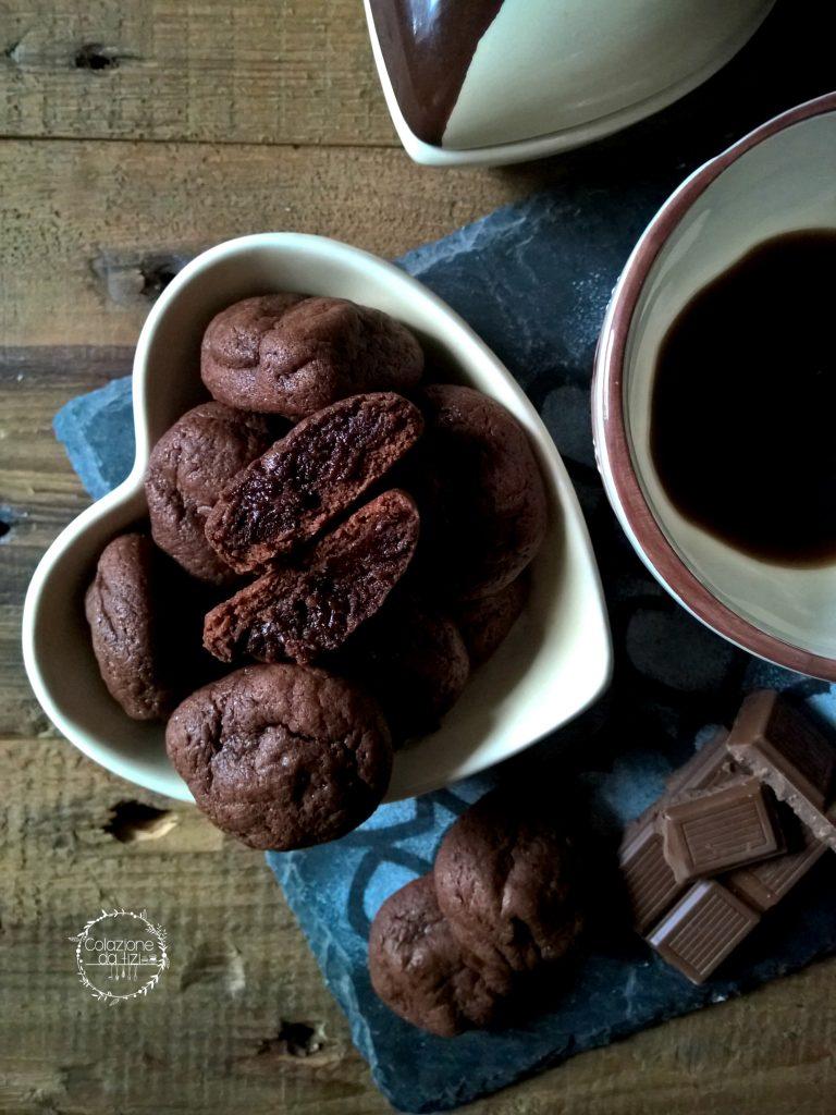 biscotti cuore fondente cioccolato