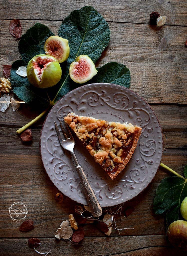 crostata vegana fichi e noci