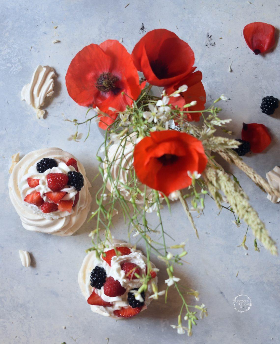 mini pavlova frutti rossi
