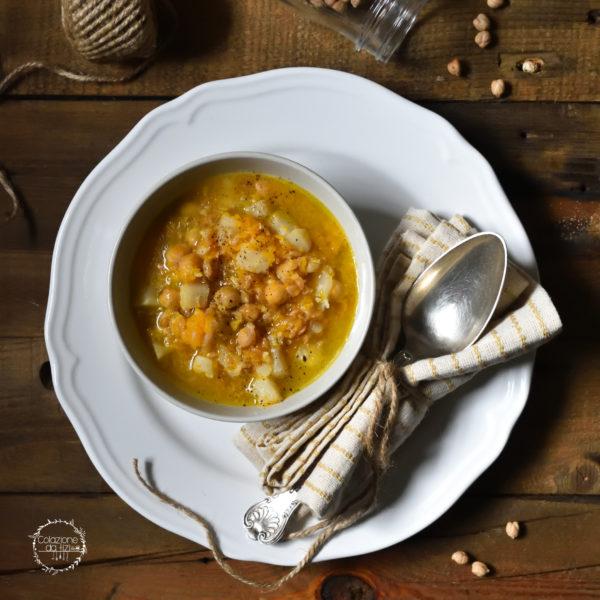 minestra di zucca avena sedano rapa