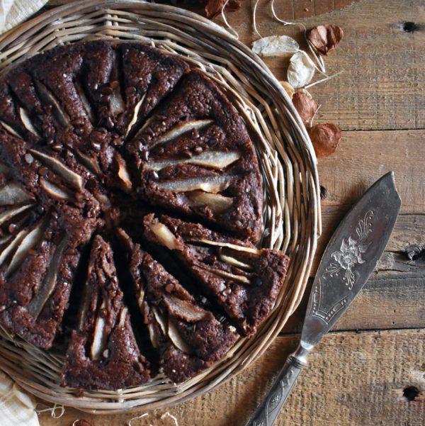 torta pere cioccolato vegan gluten free