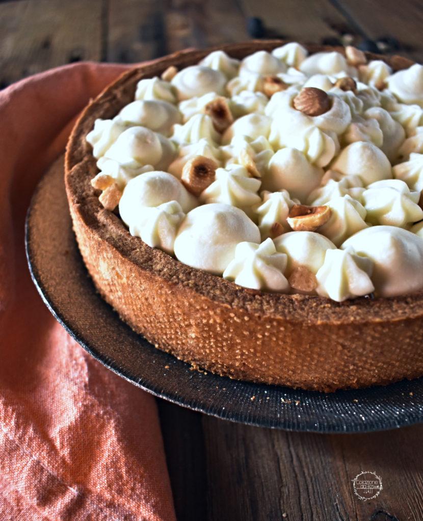 crostata albicocca e namelaka al cioccolato bianco
