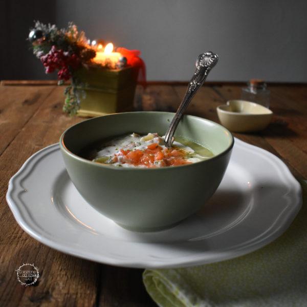 zuppa salmone