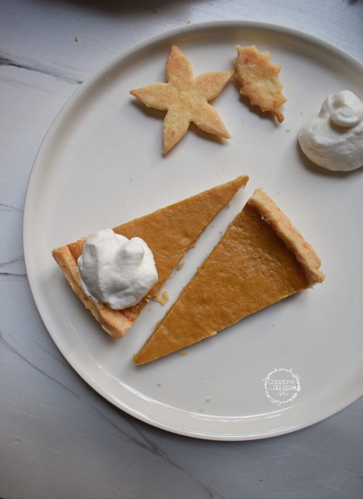 pumpkin pie torta alla zucca fette