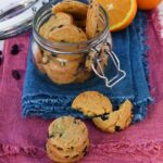 biscotti vegani arancia e mirtilli rossi