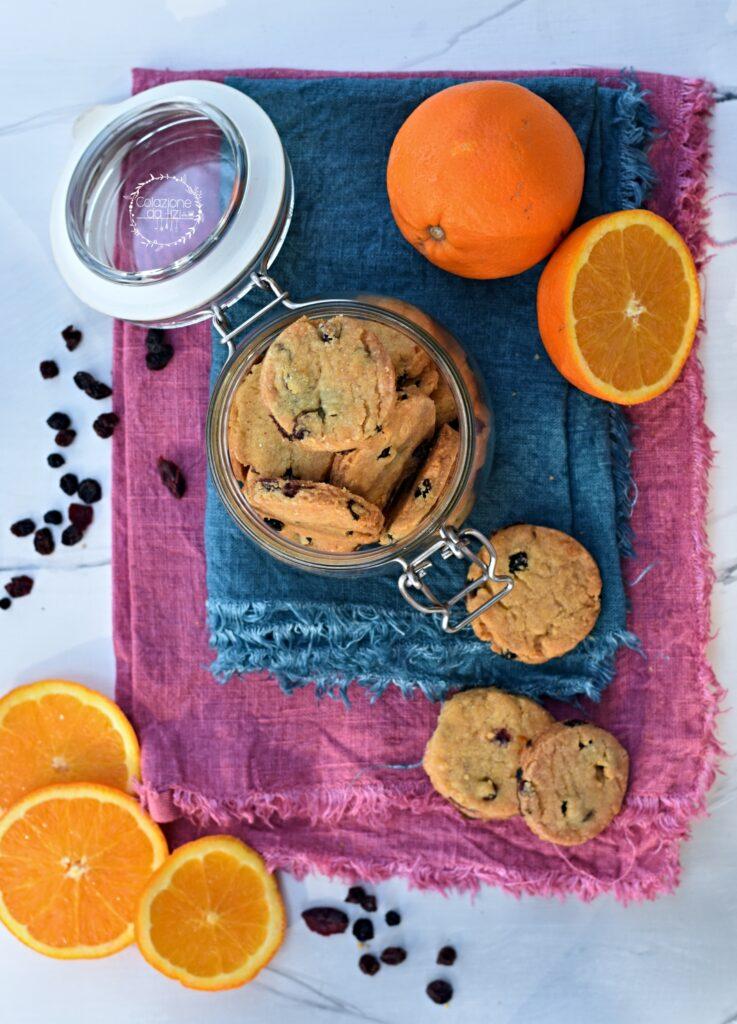biscotti vegani arancia mirtilli rossi
